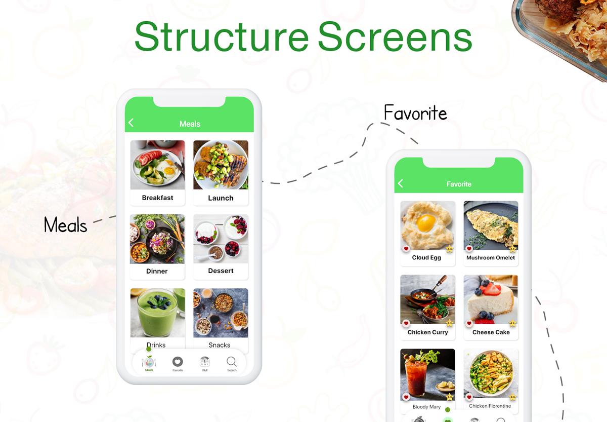 app app design diet diet application diet screen keto logo low carp ui design UI UX design