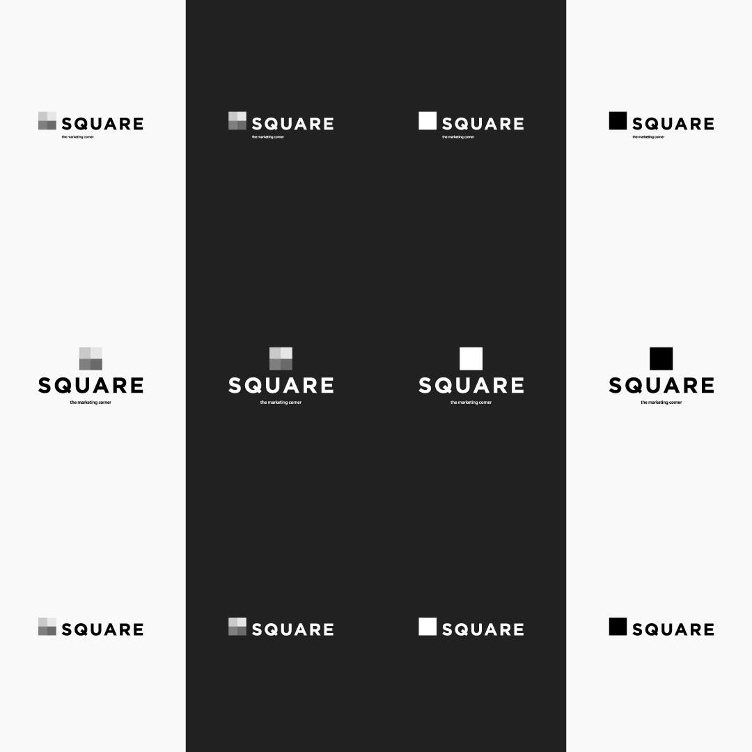 black and white square usability