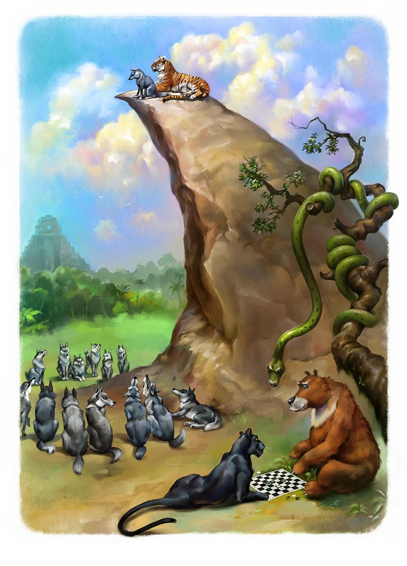 mowgli ILLUSTRATION  book cartoon cartoonish children's book children's