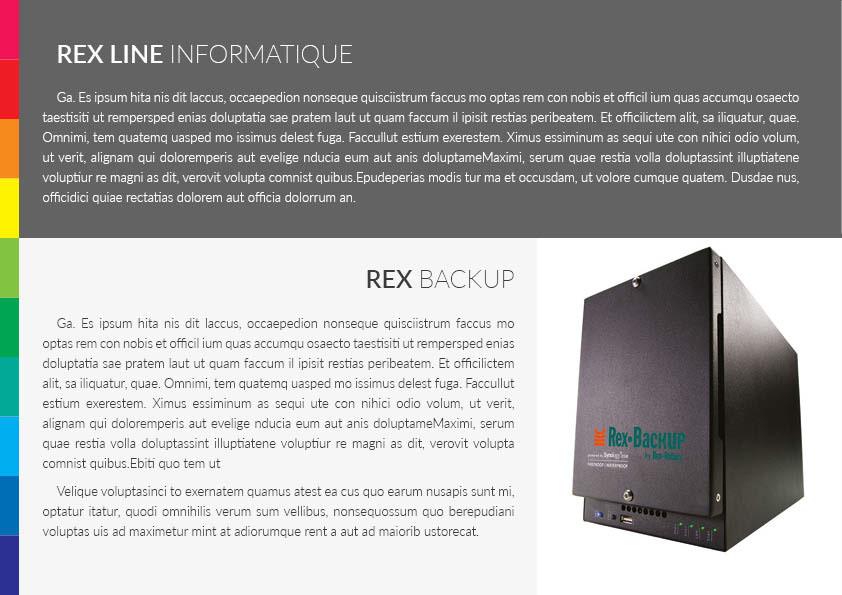 brochure print RexRotary design