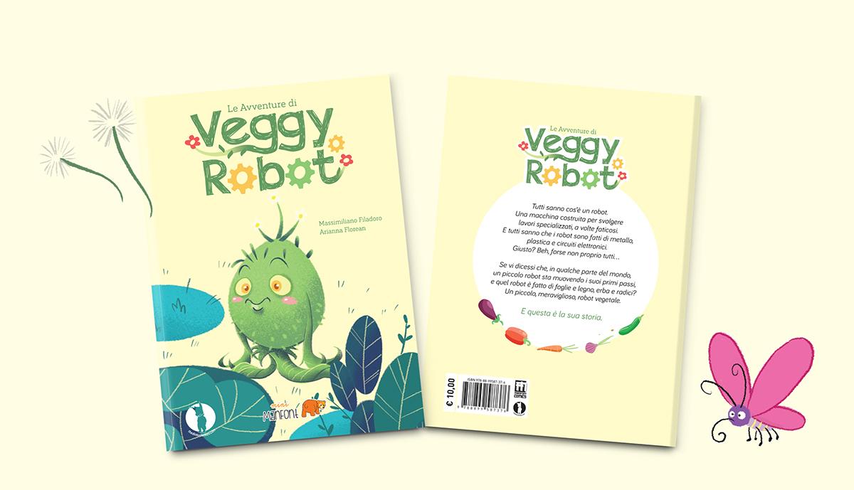 Che Cos È Il Legno veggy robot illustrated kid's book on pantone canvas gallery
