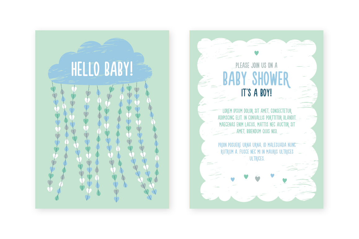 Baby Shower Invitation Template On Behance