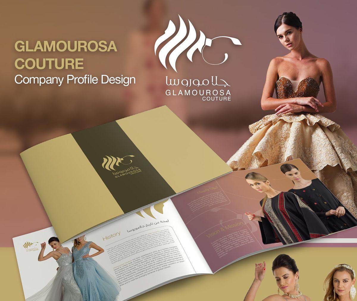 Glamourosa Couture Company Profile Design On Student Show