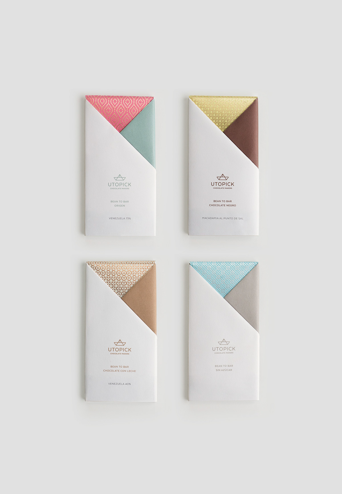 Delicious Brand Identity And Packaging Utopick Chocolate Bars