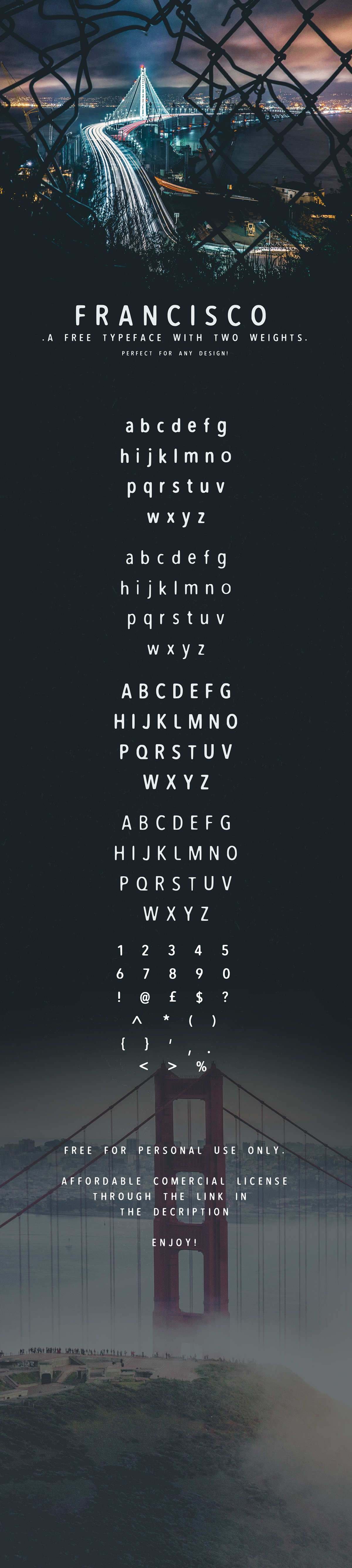 Free font font free Typeface free download download abstract texture Logo Design logo poster new San Fancisco usa Illustrator