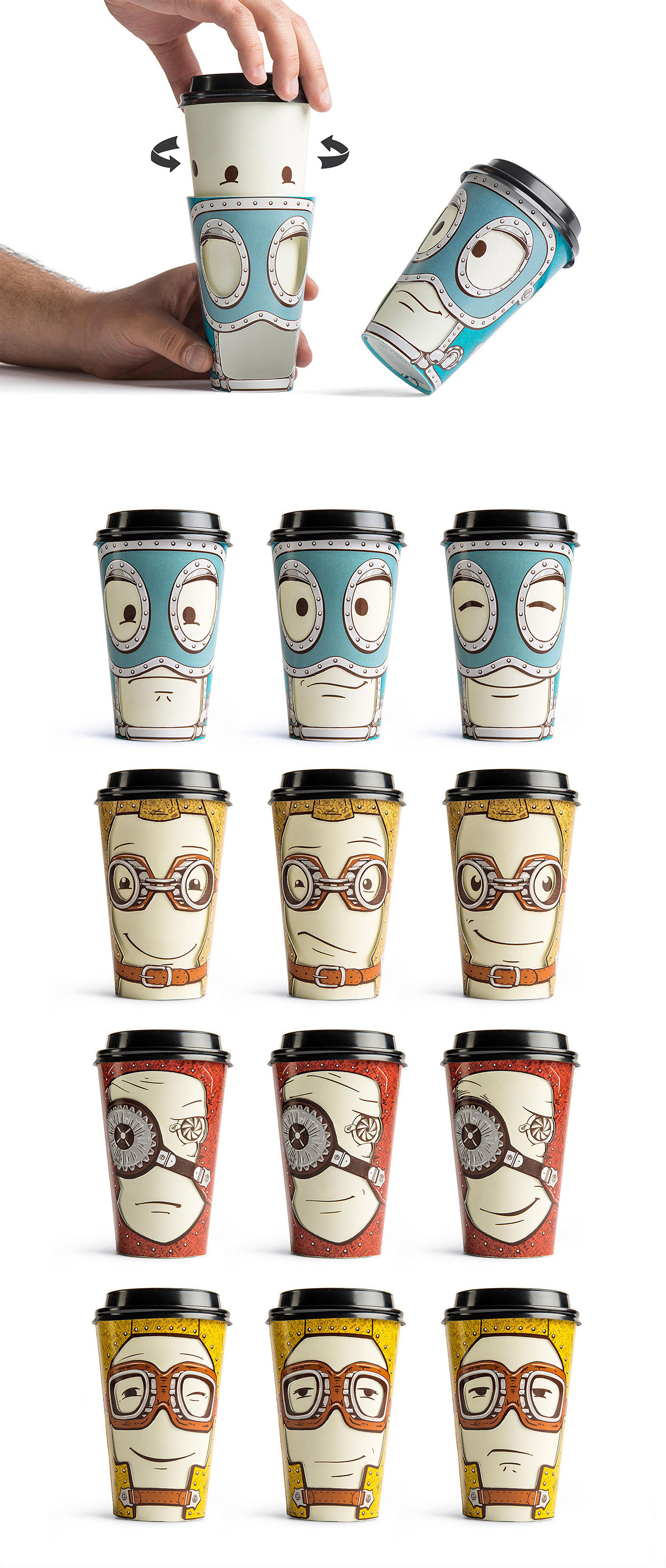 cups emotions face expression mood