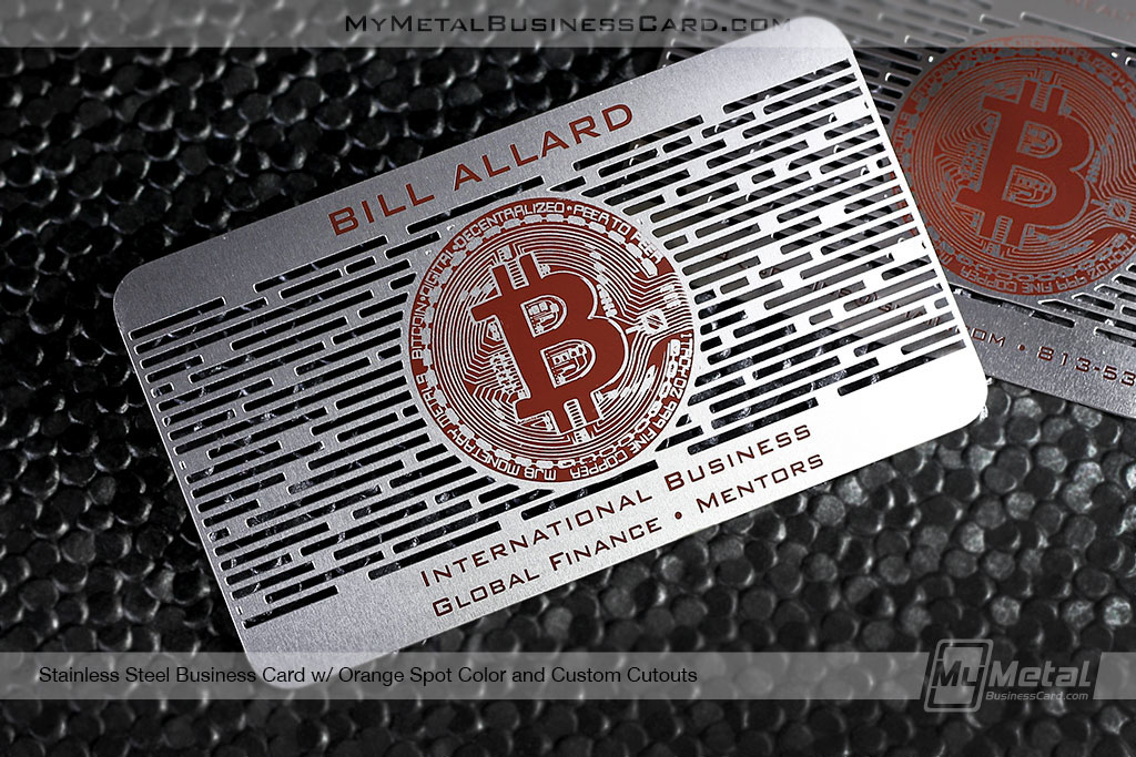 Metal business cards for bitcoin experts on behance colourmoves