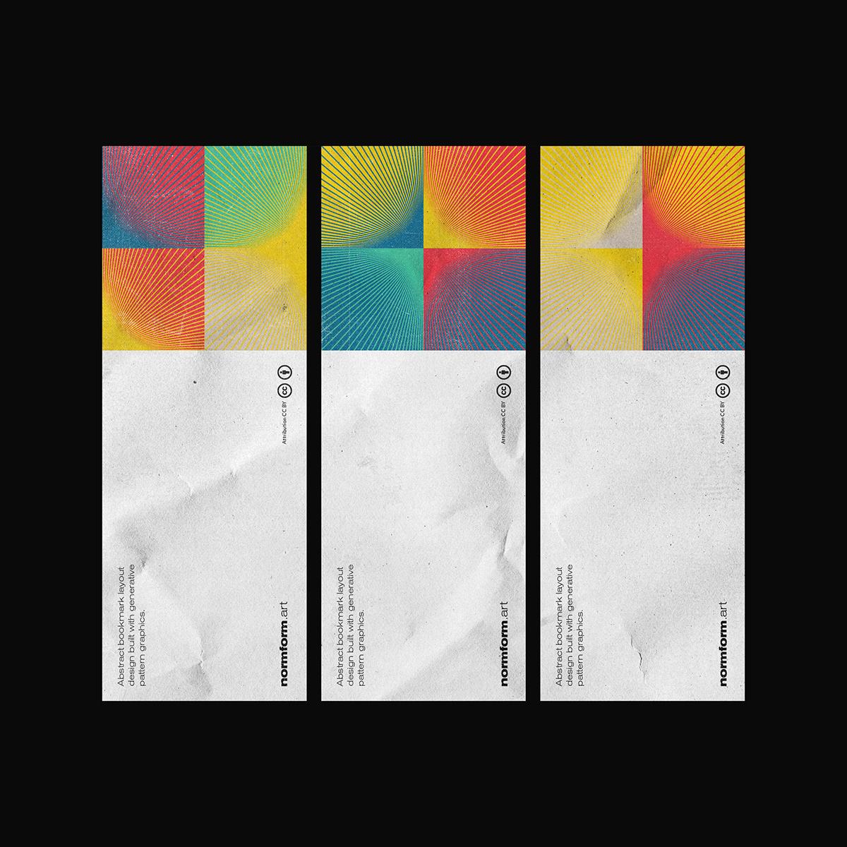 abstract art bauhaus design generative geometric pattern poster swiss typography