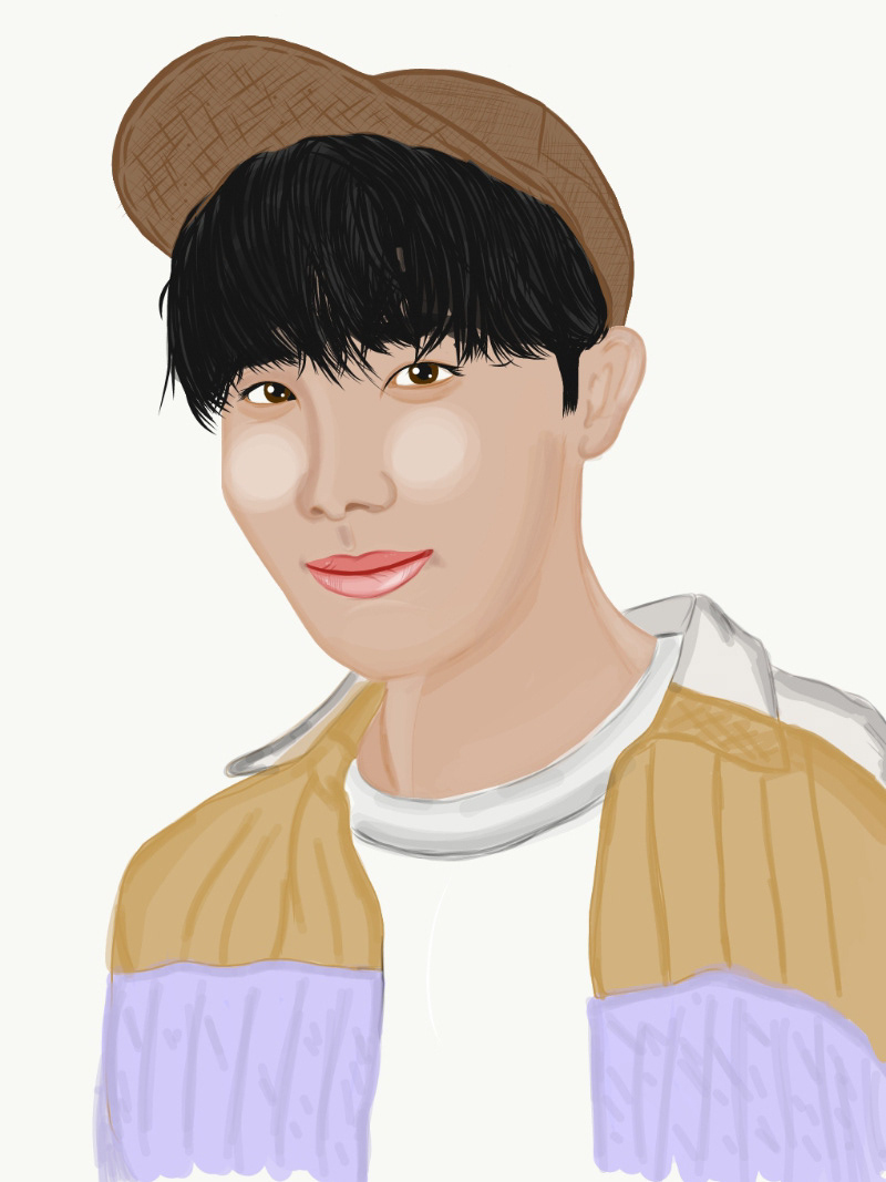 adobe draw art bts BTS FanArt bts jhope Digital Art  Digital Drawing digital painting Drawing  drawing process fanart Hoseok ILLUSTRATION  jhope jhope fanart kpop fanart sketch