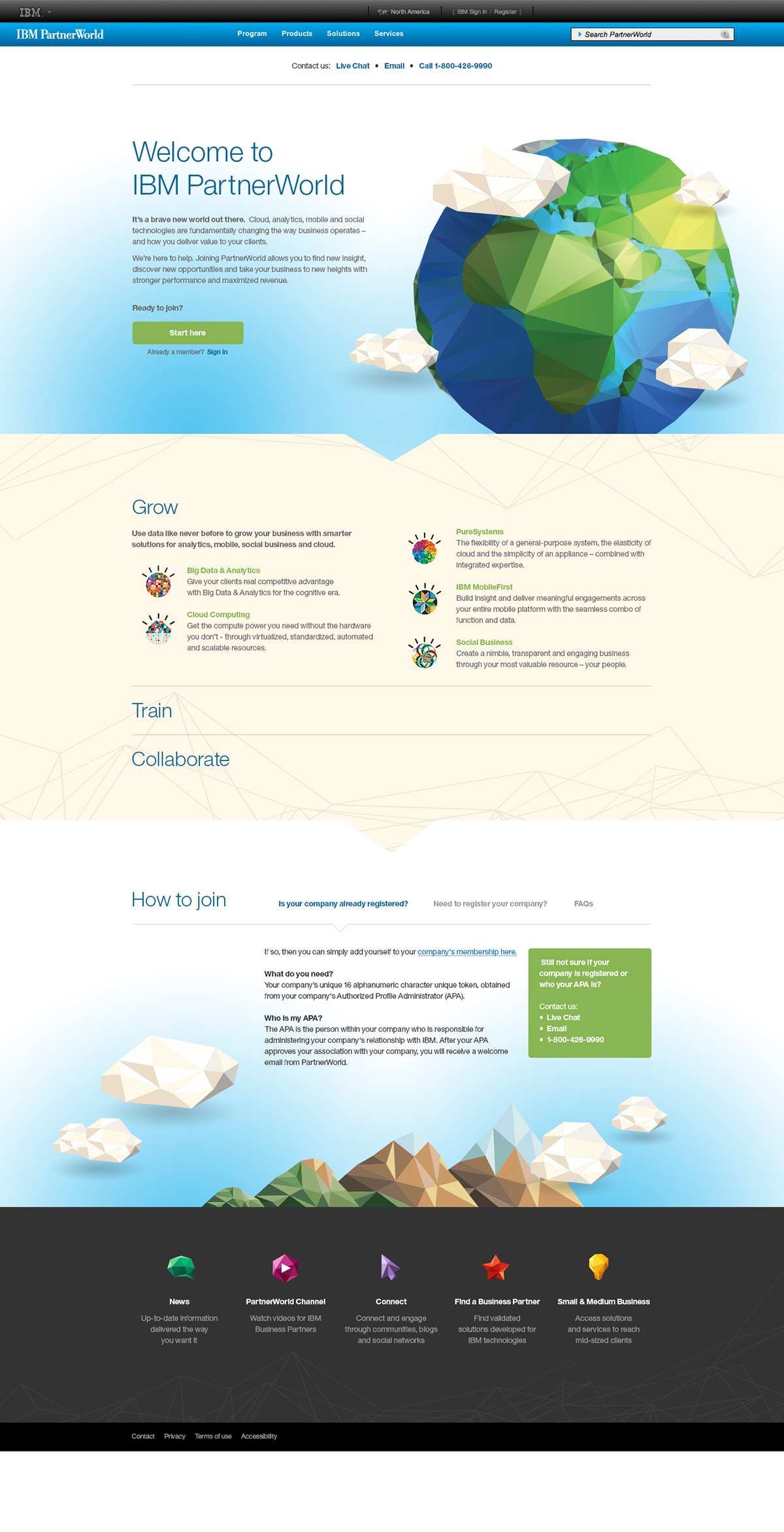 IBM Partner World Landing Page on Behance
