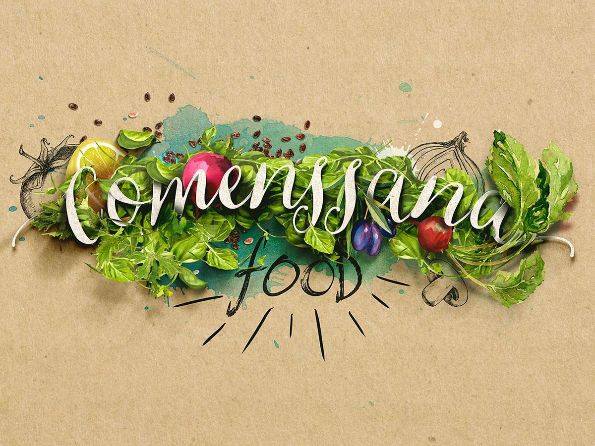 comenssana photoshop diseñador retoque fotográfico comida rebranding diseño arte