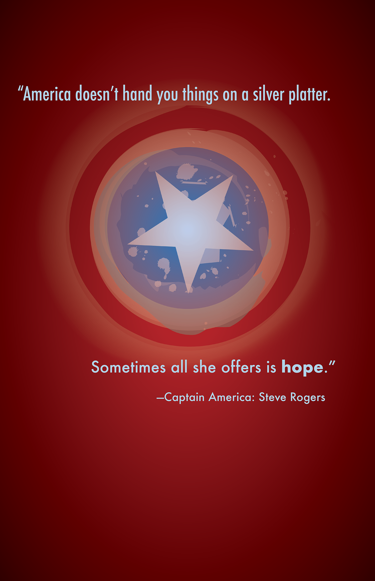 Inspirational Marvel Quote Posters on Pantone Canvas Gallery