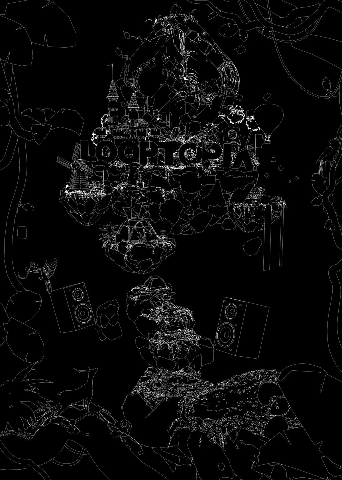 Looptopia intro promo CG 3D c4d cinema4d motion graphics motion graphics