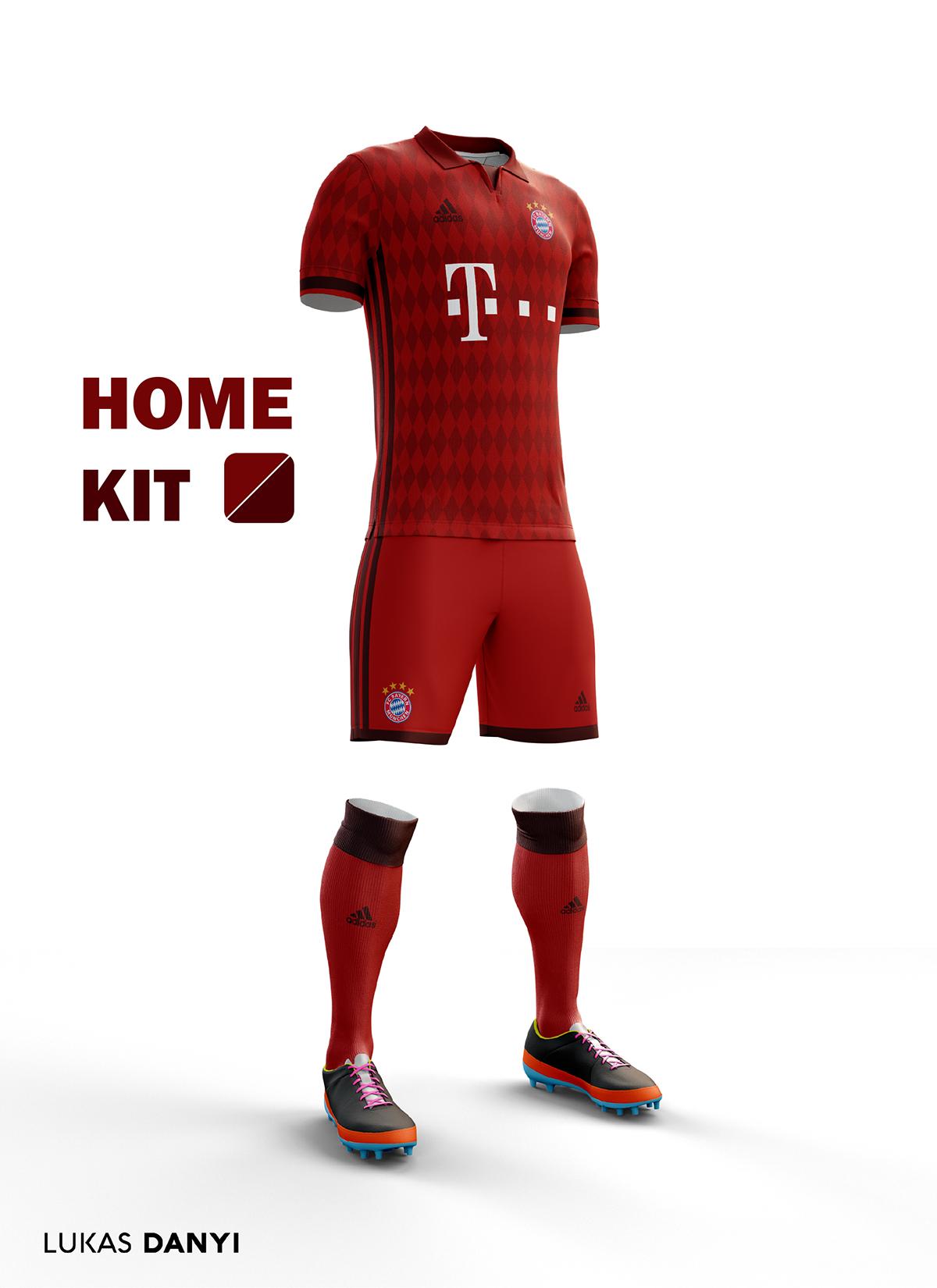 check out 92d4a 457ec Fc Bayern Munchen Football Kit 16/17. on Behance