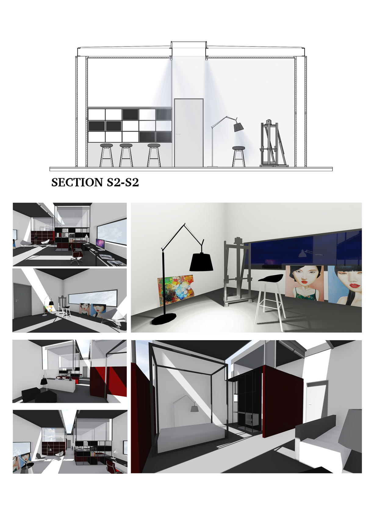 Interior Spatial Organization And Design Project I Ii On Student Show