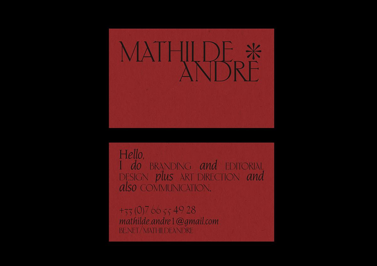 Mathilde André - Self Branding on Student Show