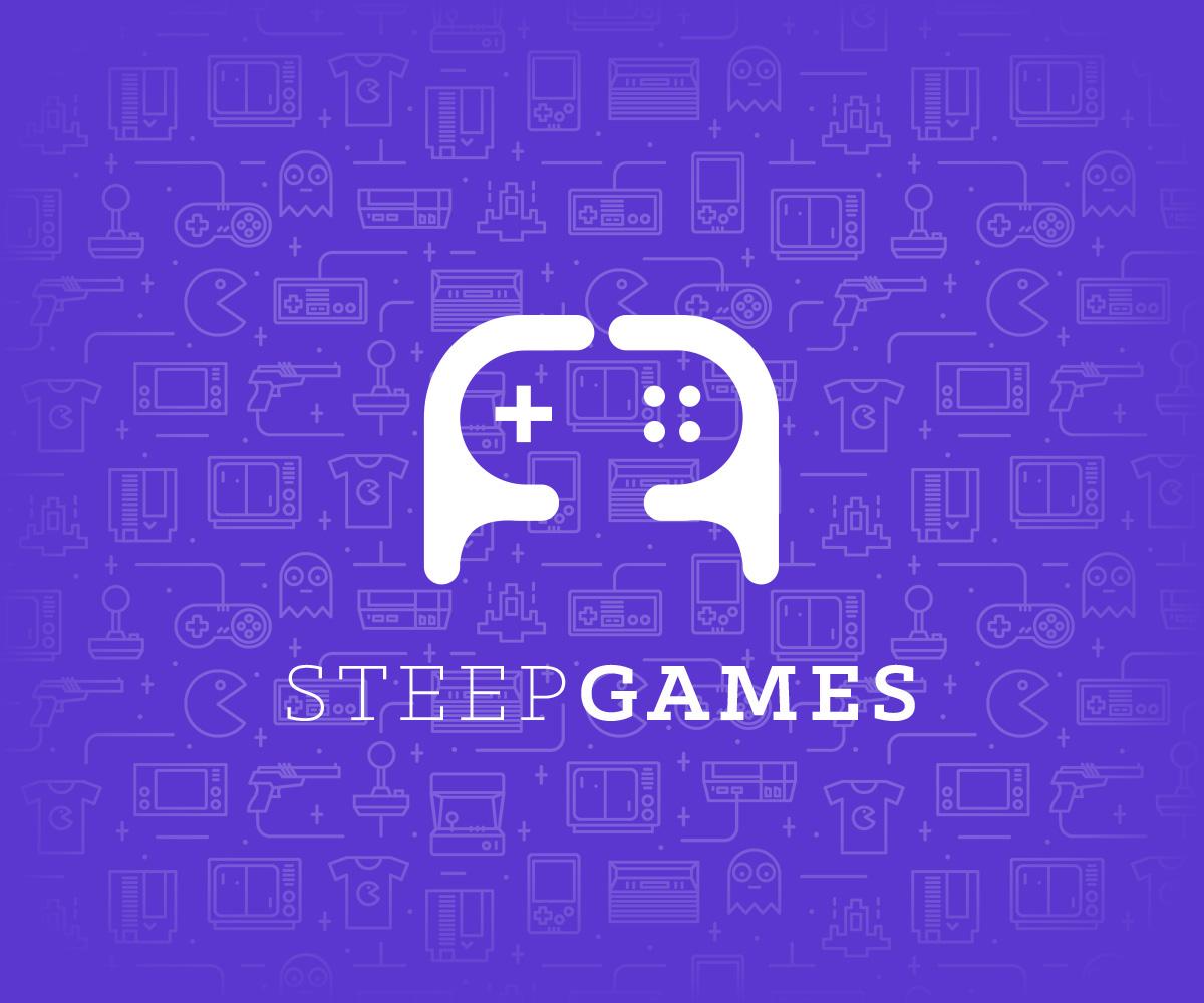 game logo joystick gamepad