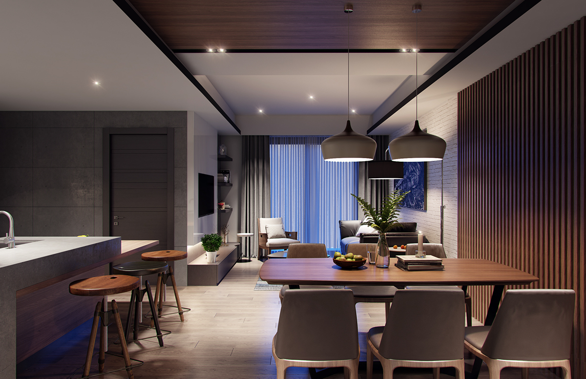 Apartment 60m2 on behance for 60m2 apartment design