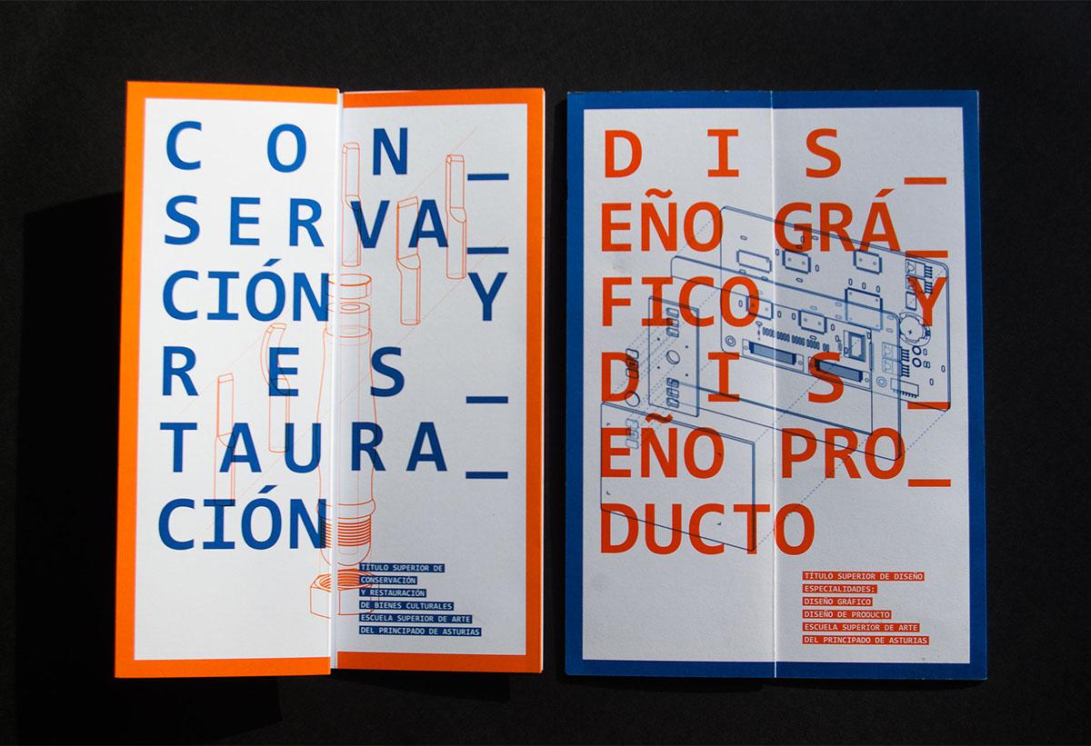 esapa escuela de diseño folletos Plegado creativo educación brochure