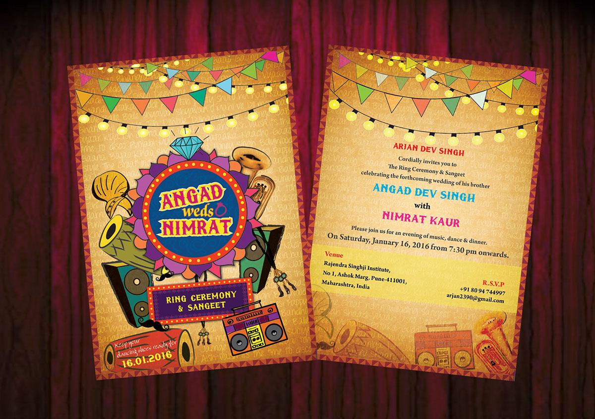 Angad weds Nimrat - wedding invitation card on Behance