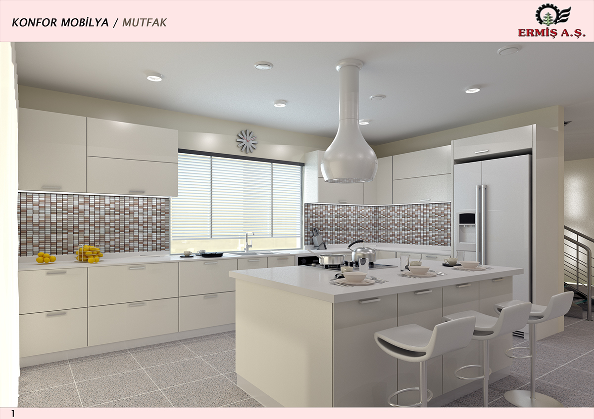 Modular Open Kitchen Design on Behance