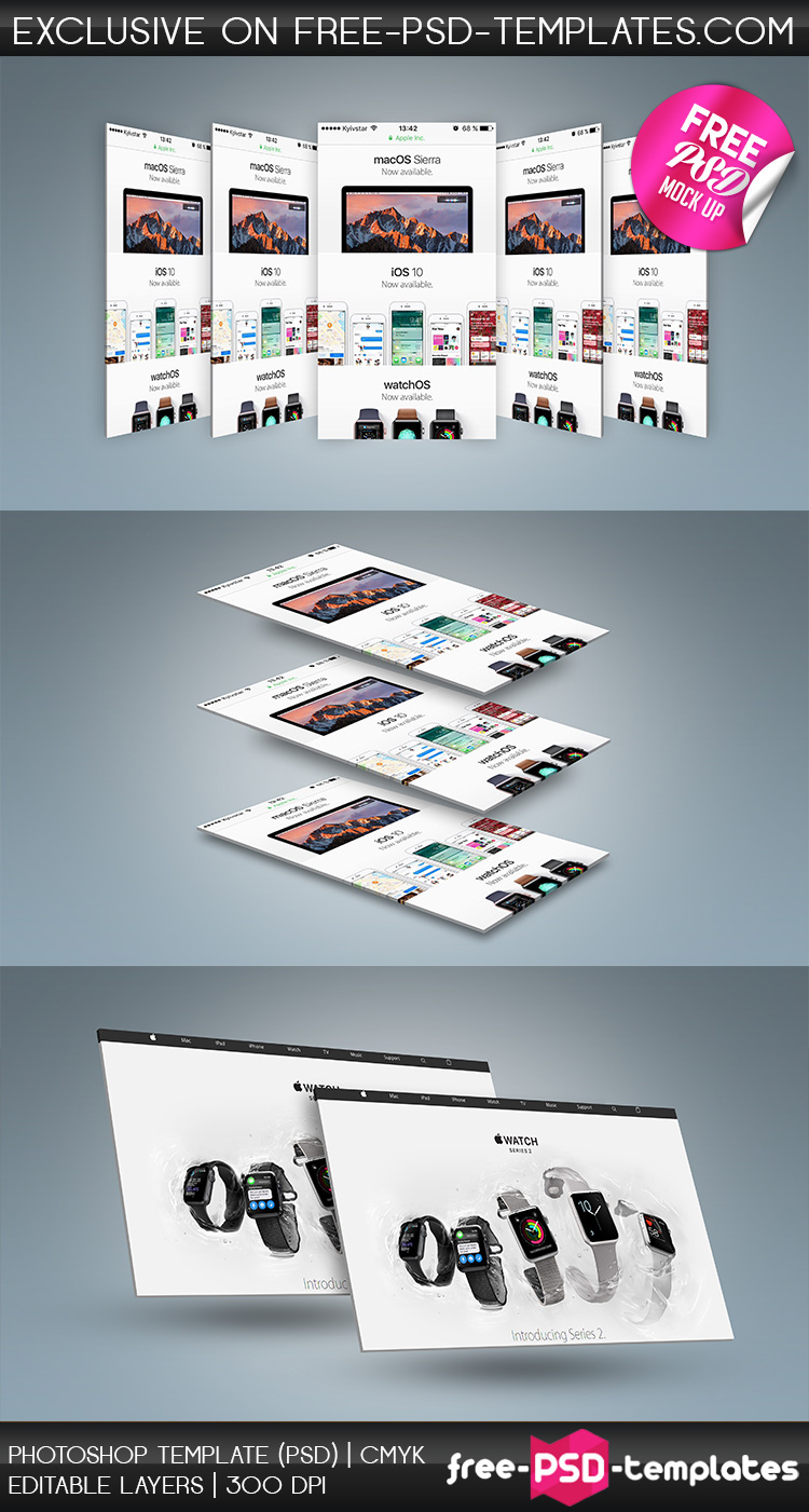 free psd wЕb and mobile presentation mockup in psd on behance