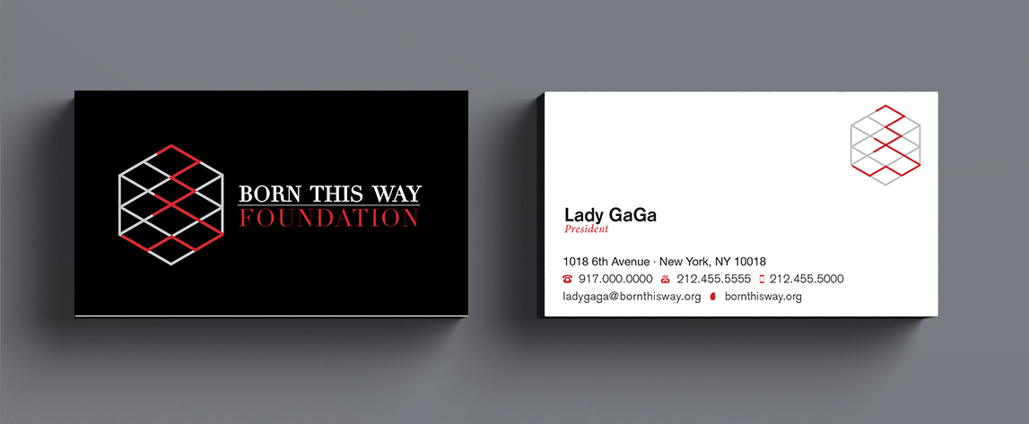 poster posters ad adcampaigns ladygaga gaga stationary BuisnessCards letterheads Mockup foundations Non for profit brand design creative