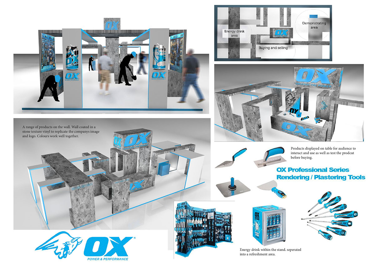 Exhibition Stand Builders Coventry : Commercial trade stand exhibition for ox tools on