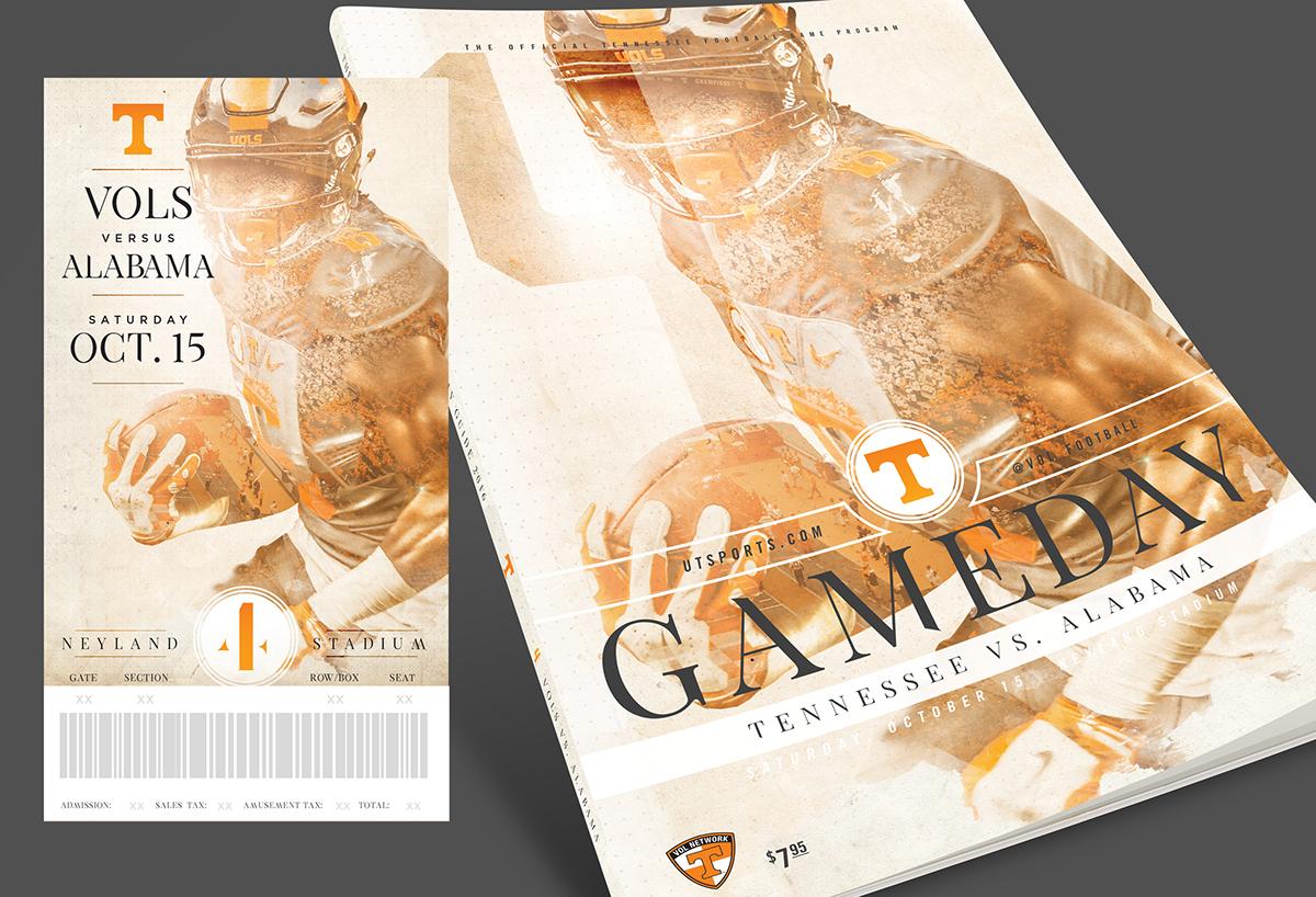 Tennessee Football Season Tickets & Program Covers 2016 on ...