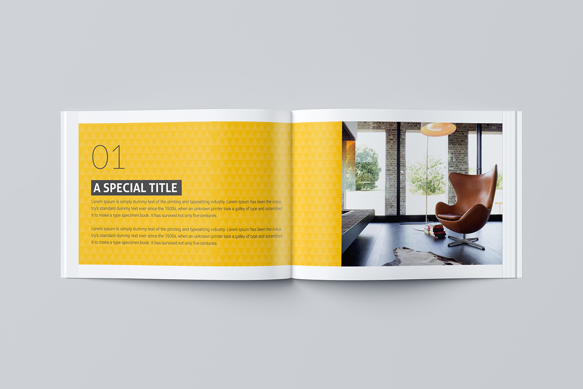 Interior Design Brochure Template on Student Show