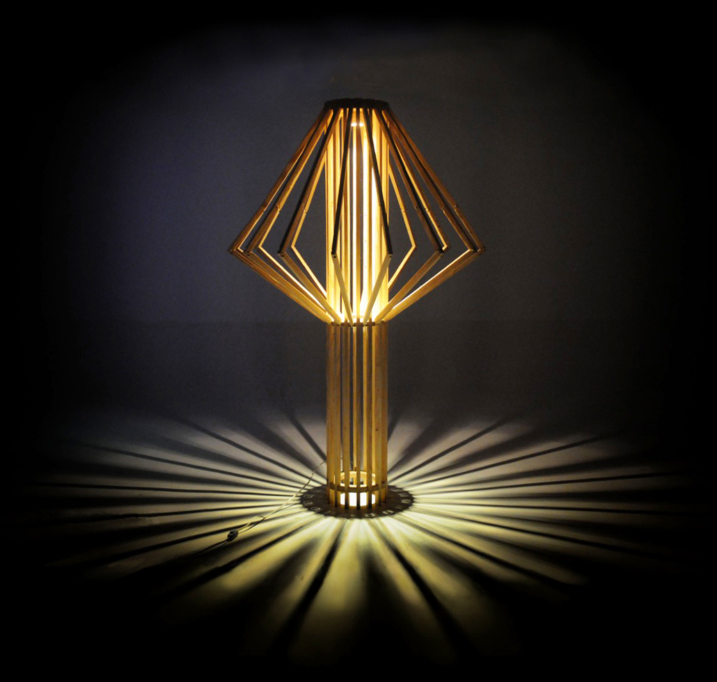 Umbrella light Lamp wood scarpia