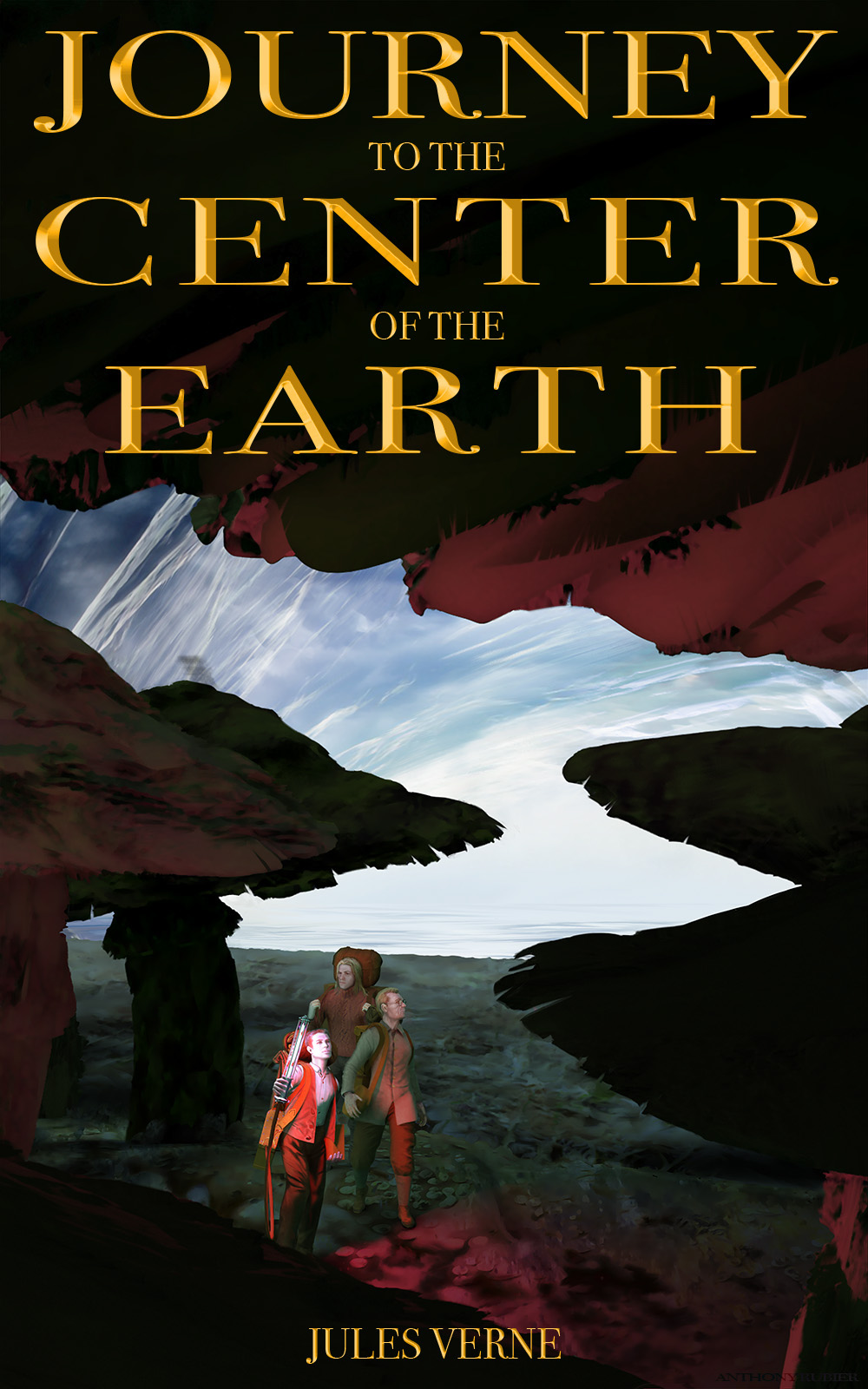 Famous Book Cover ~ Journey to the center of the earth book cover project on behance