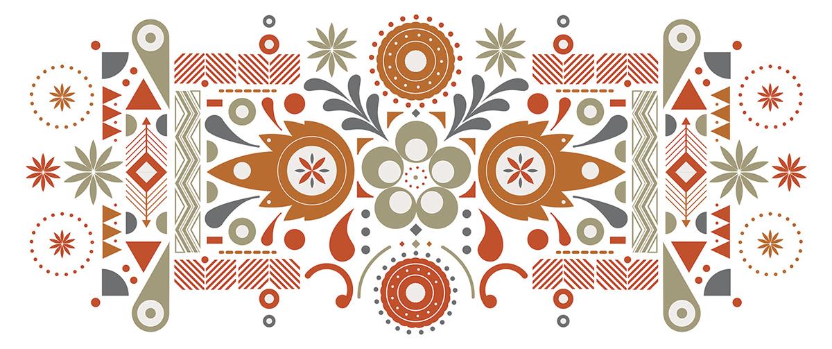 Adobe Portfolio,PizzaExpress,FolkART,folk,pattern,London,restaurant