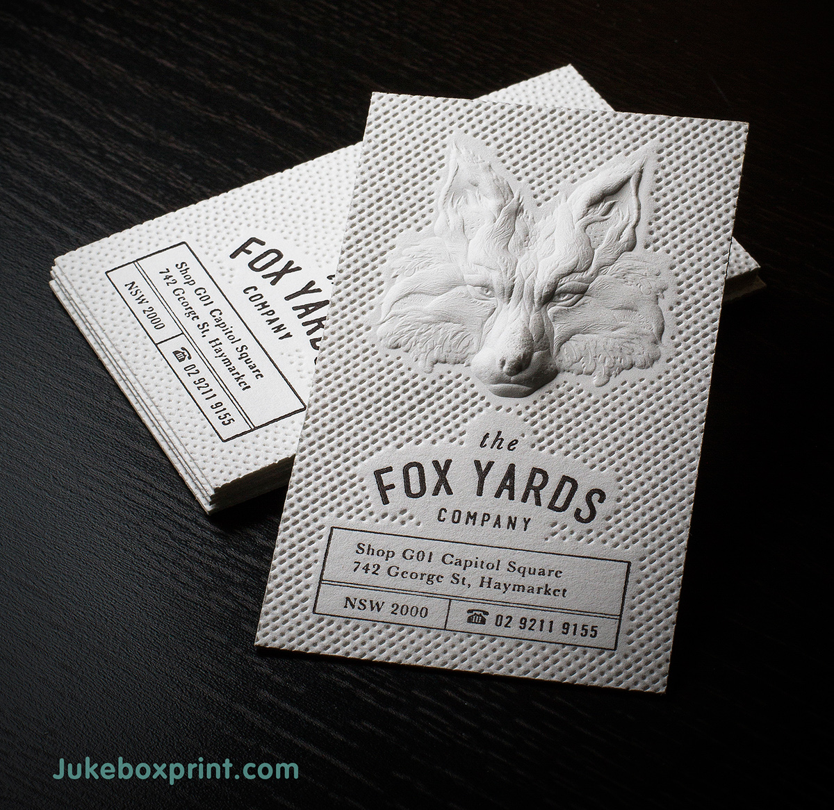 3D Embossed Business Cards produced with Letterpress on Behance