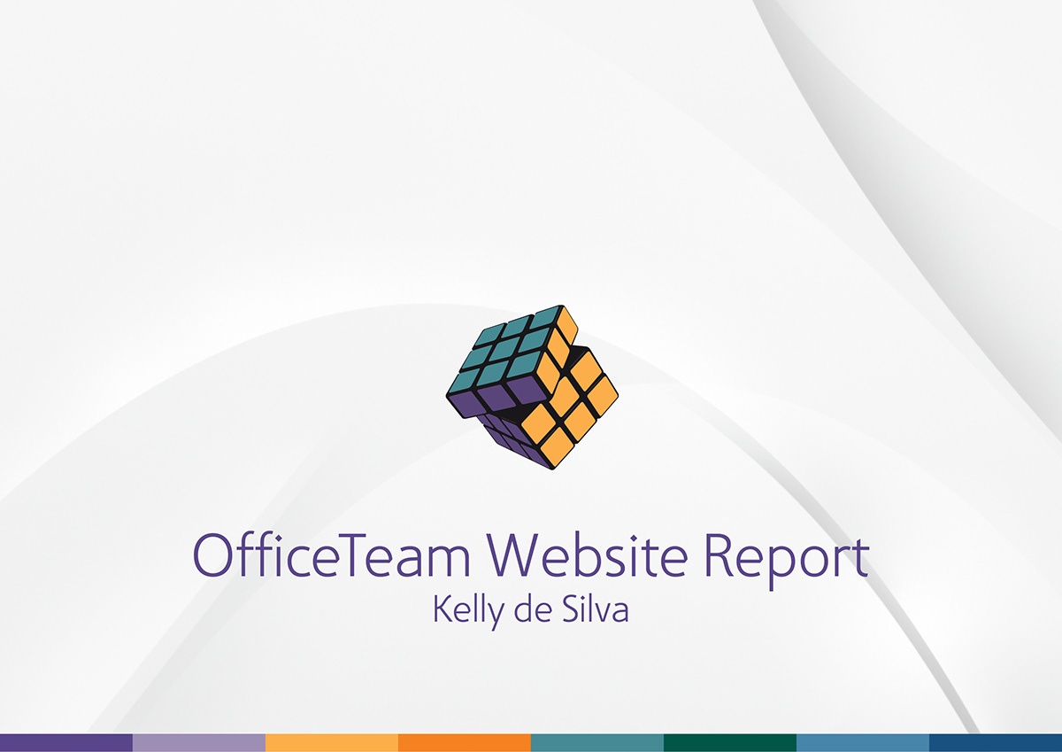 powerpoint presentation officeteam web reporting on behance