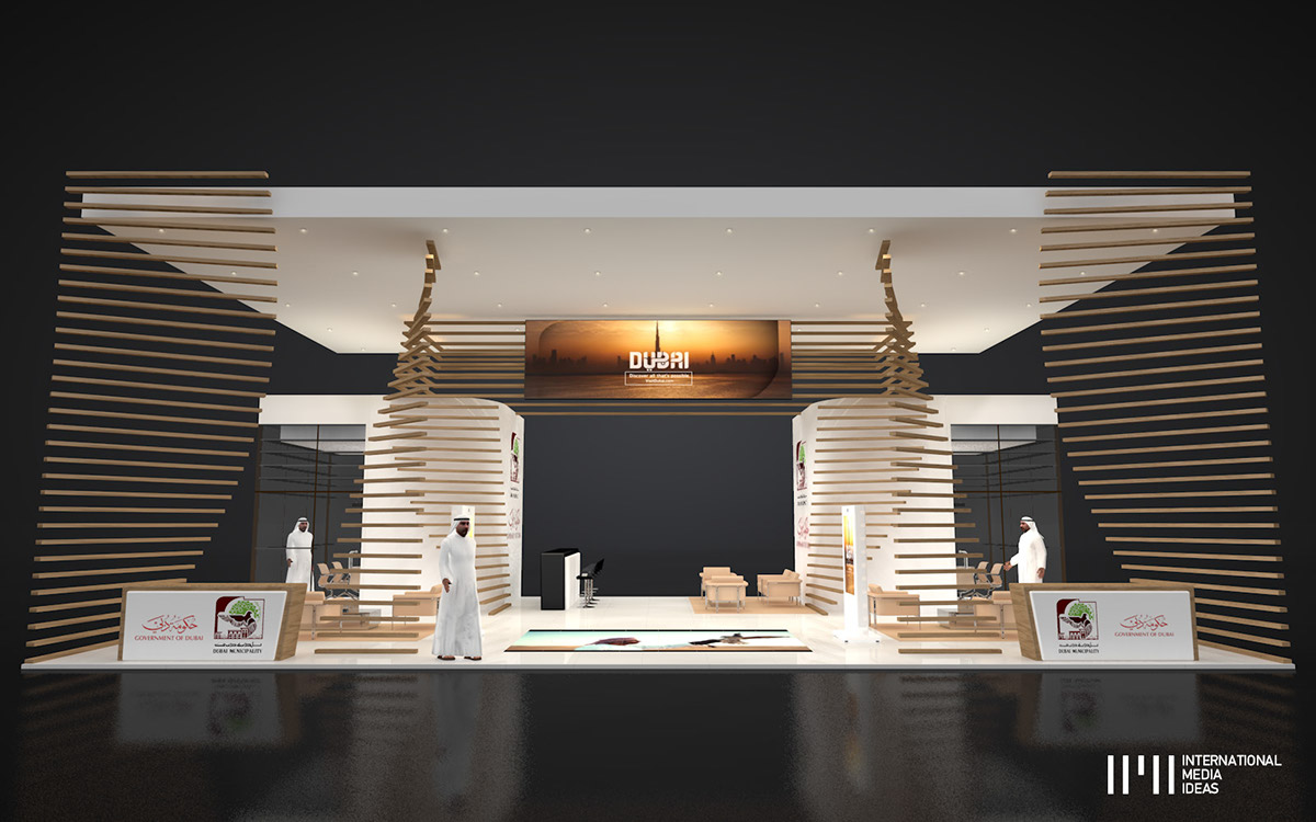 Exhibition Stand Behance : Dubai municipality exhibition stand on behance