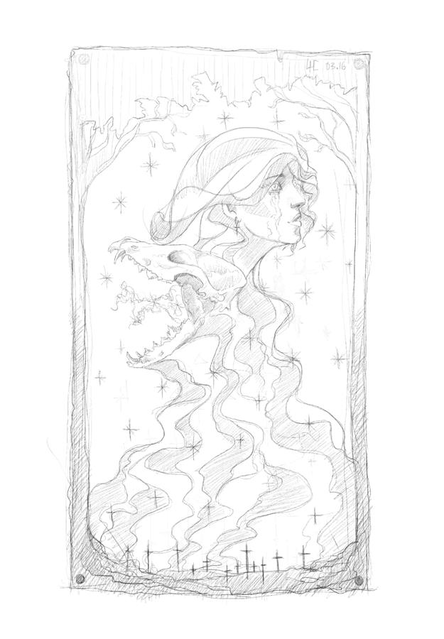 рисование рисунок гравюра свобода freedom звезды религия смерть жизнь девушка череп death life skull soul