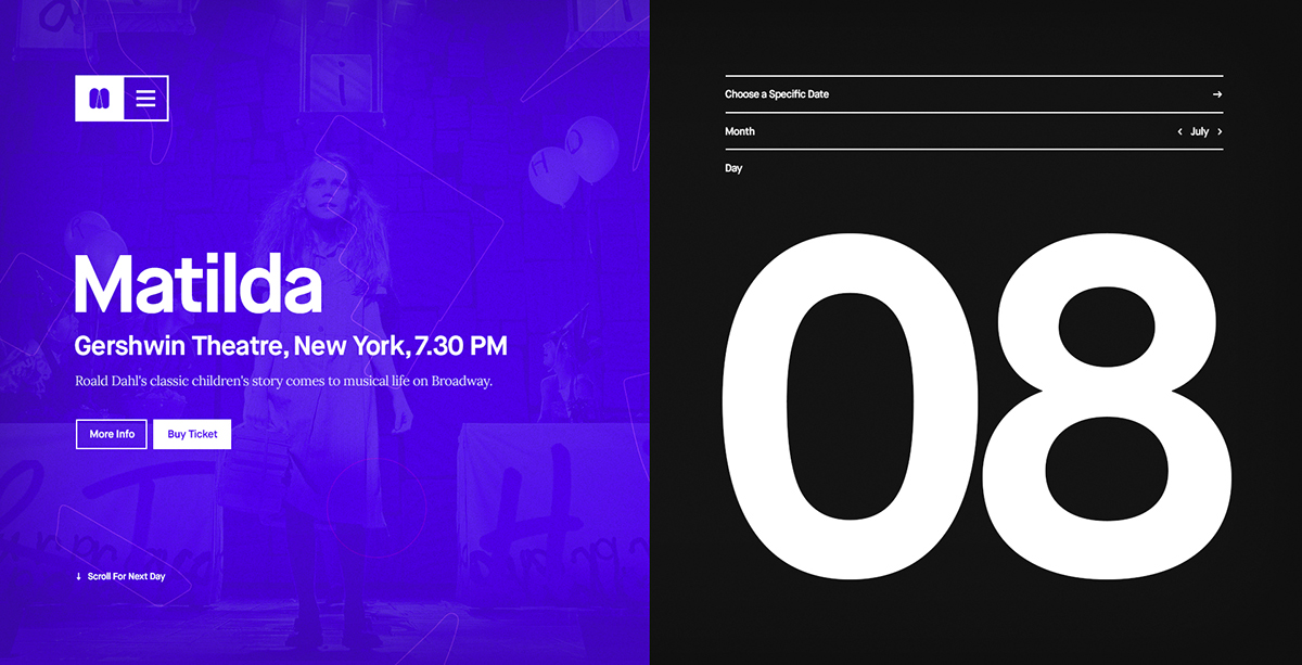 Event music calendar typography