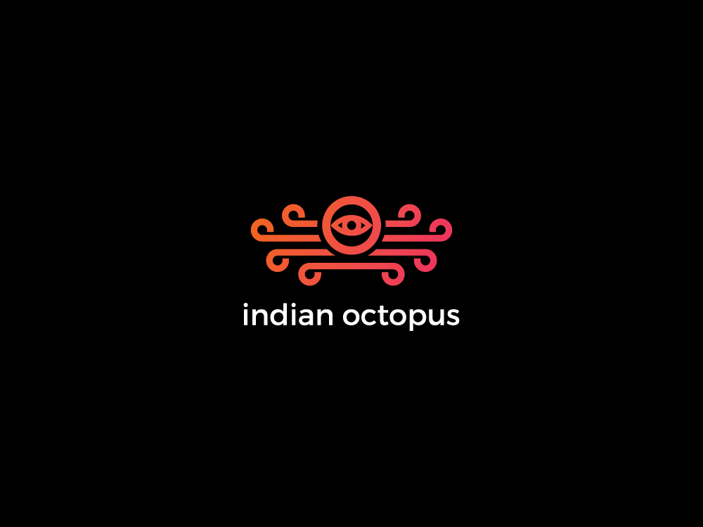 indian octopus logo branding