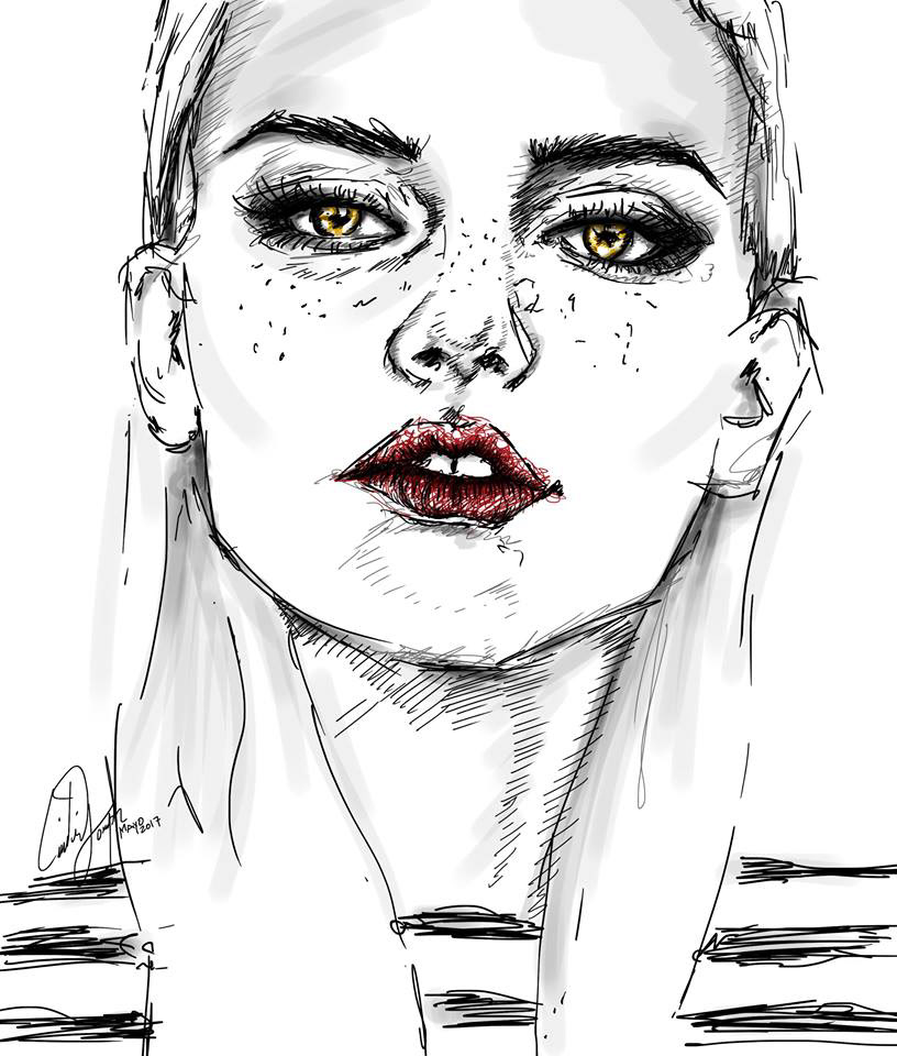 Image may contain: sketch, drawing and art