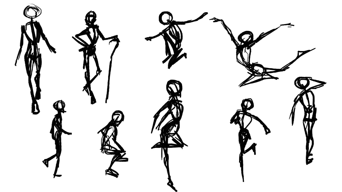 Take a look at the screen shots of the gestures drawings that i did below