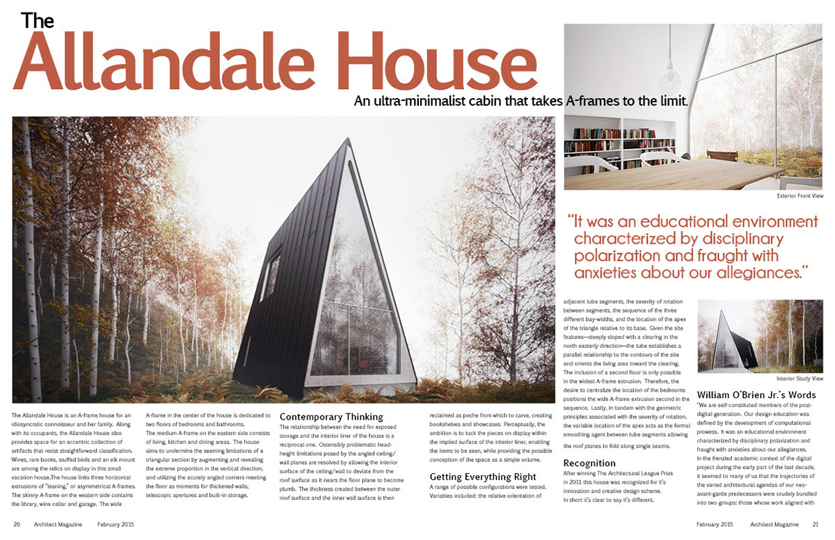 Magazine Article For An A Frame House Designed By William Ou0027Brien.