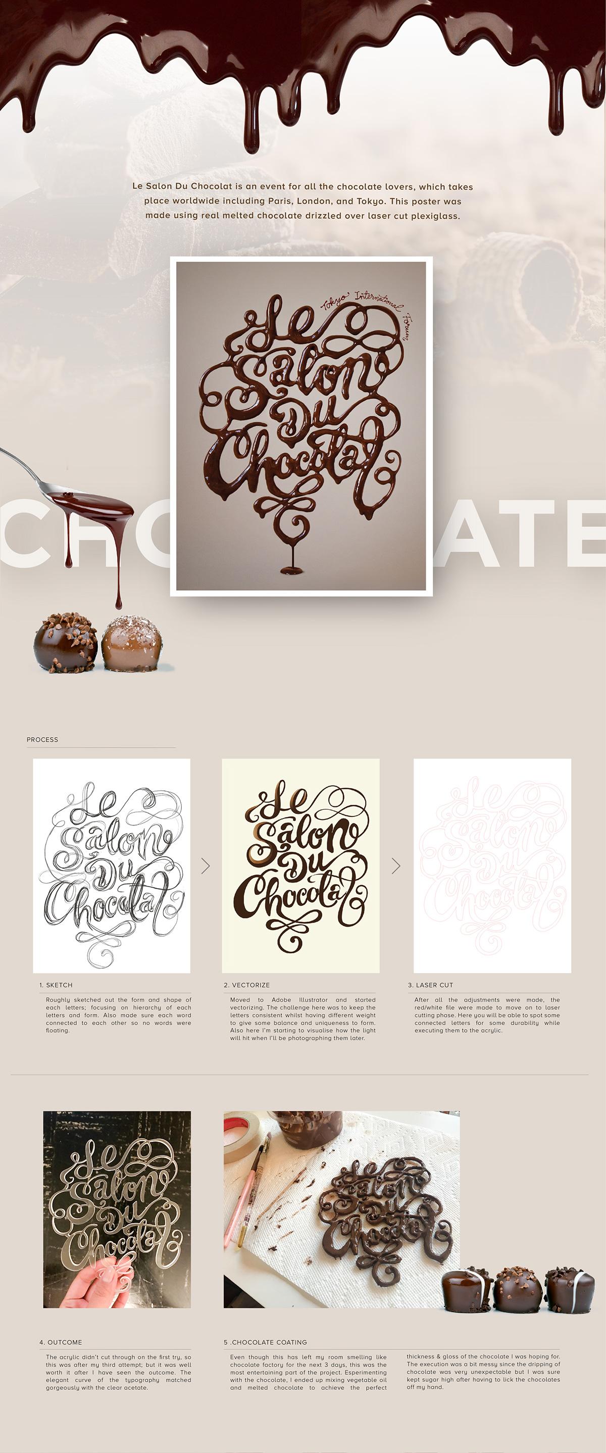 Le Salon Du Chocolat Event Poster on Student Show