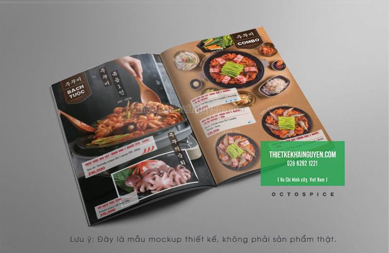 Mẫu menu nhà hàng BBQ phong cách Hàn Quốc