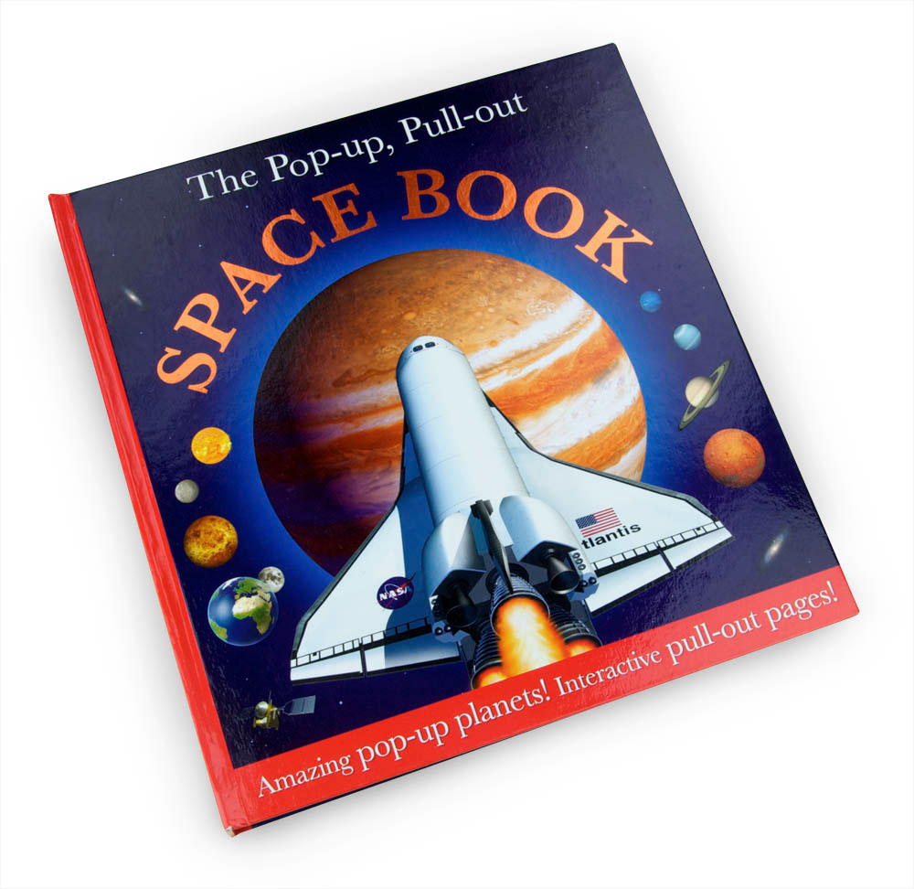 Pop up pull out space book designed by Fiona Gowen and published by Dorling Kindersley