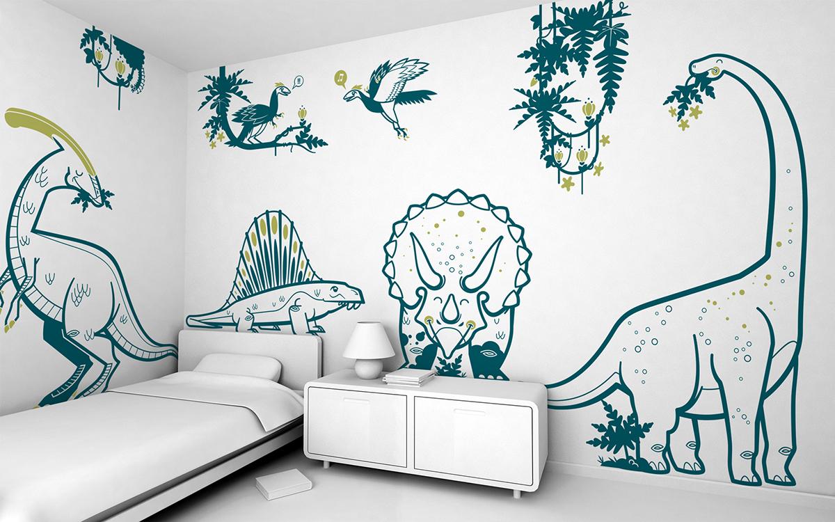 Jurassic World Kids Wall Stickers On Behance