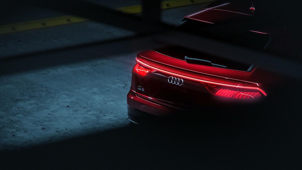 The All-New 2019 Audi Q8 Full CGI on Pantone Canvas Gallery