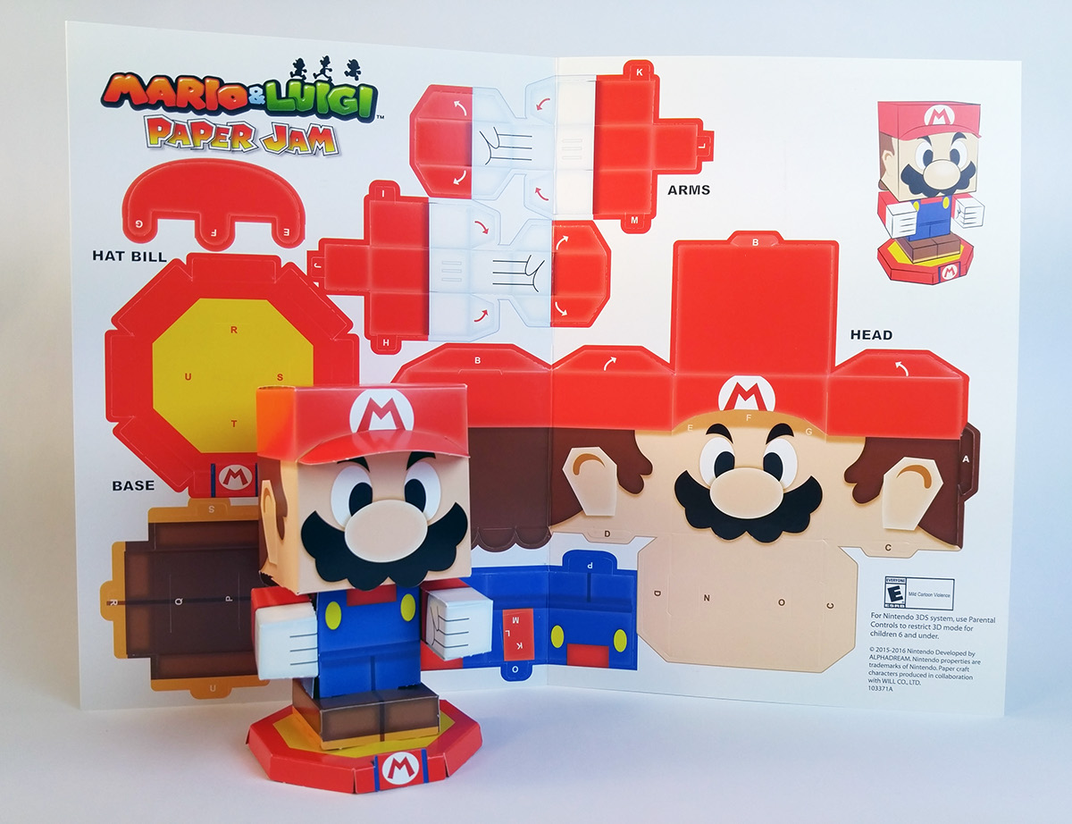 Mario Luigi Paper Jam Papercraft Premium On Behance