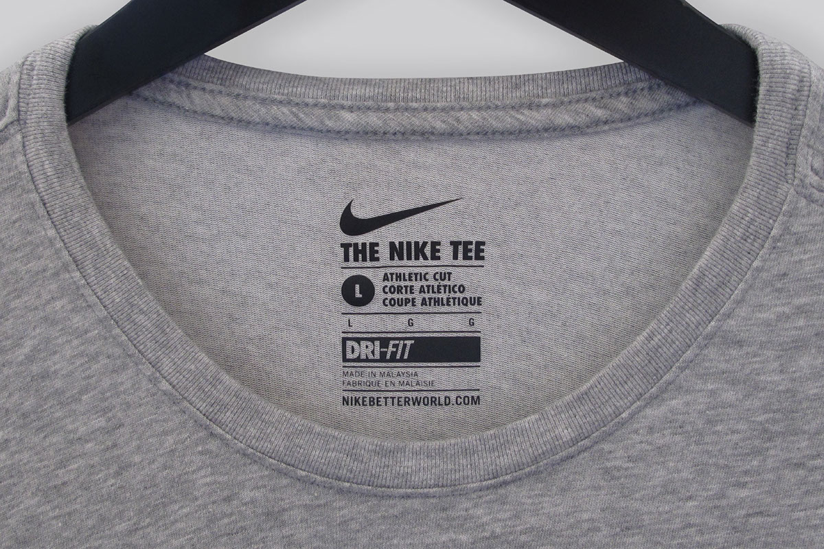 Nike global label system on behance for T shirt printing and labeling