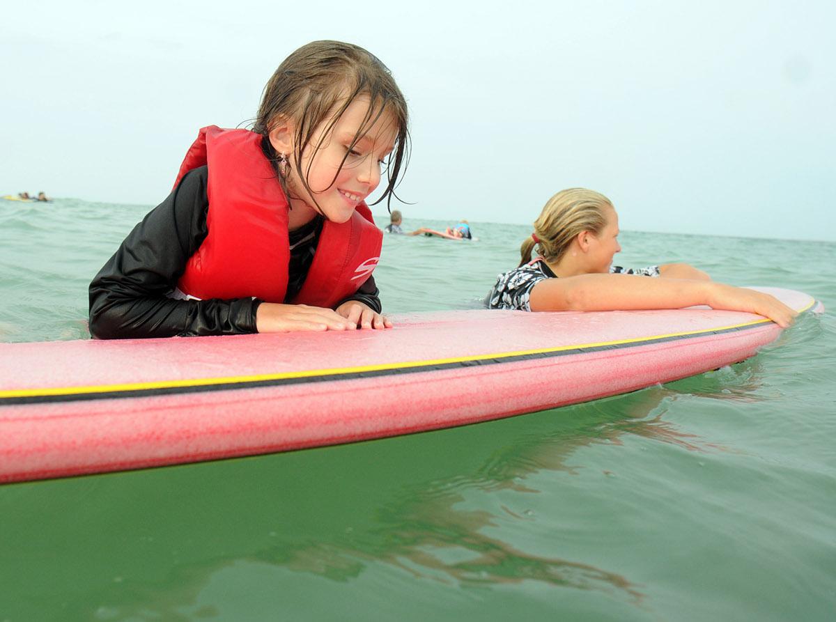Indo Jax  Surf Charities special needs summer camp Blockade Runner  wrightsville beach north carolina Visually impaired austim cystic fibrosis